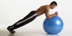 Swiss Ball Plank