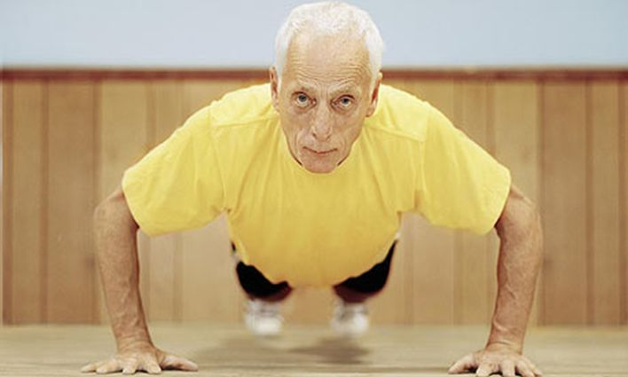 Senior Fitness Man Exercising