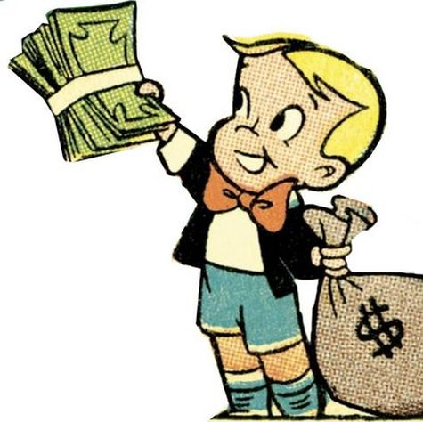 Richie Rich Giving Money