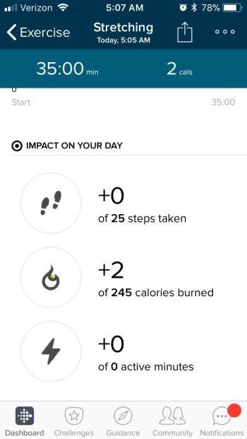 Log Your Workout - Fitbit App Saved Exercise 2
