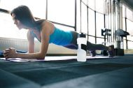 Fit Woman doing a Plank Exercise
