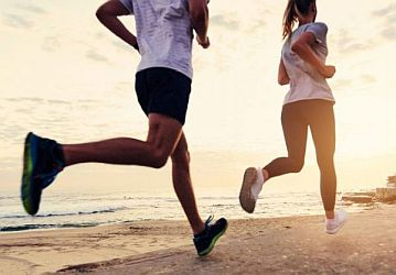 Stay Healthy and Active - Running on the Beach