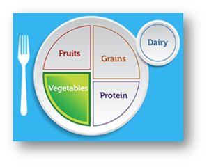 Image of Plate showing Vegetable Nutrition