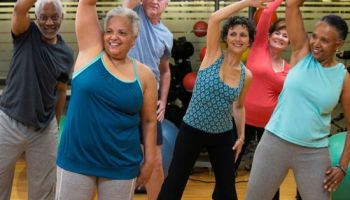 Lower Your Risk - Elderly People Exercising to fight age-related illness