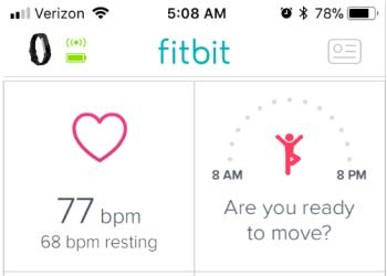 Fitbit App Reminders and Tracking