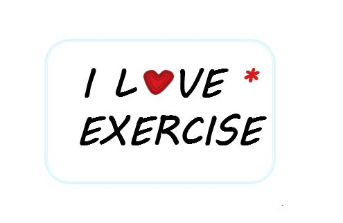 I Love Exercise Mouse Pad