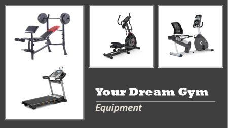 Home Gym Equipment - Treadmill, Elliptical, Recumbent Bike, Weight Bench