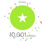 Fitbit 10,000 Steps Display
