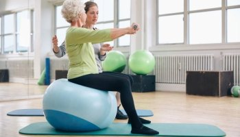 Senior Stability Ball Exercises