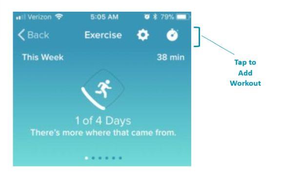 Fitbit Exercise Recording Area