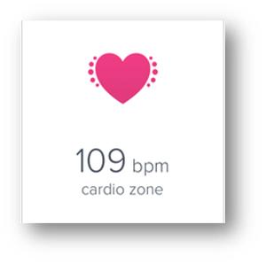 bpm 109 cardio zone