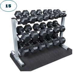 15. Large Dumbbell Set